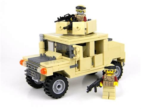 lego army humvee army humvee 2 figures custom set made with