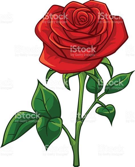 imagenes rosas animadas rosas rojas de estilo de dibujos animados illustracion