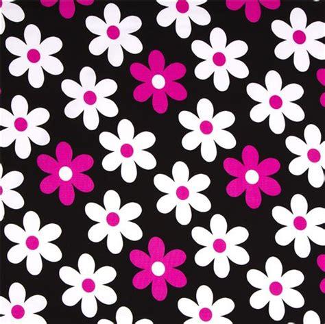 Wallpaper Black Flower 5m black michael miller fabric pink white flowers flower