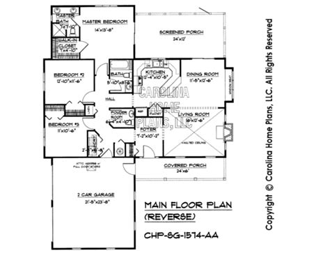 reverse floor plan small country style house plan sg 1574 sq ft affordable