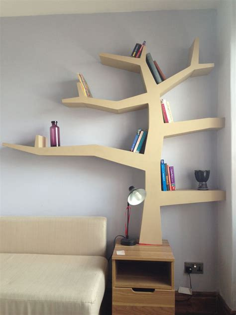 Wooden Tree Bookcase 20 tree branch bookshelf ideas house design and decor
