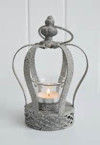 grey crown tea light candle holder  white lighthouse accessories