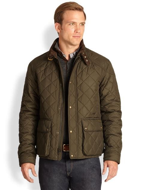 Polo Quilted Jacket Mens by Polo Ralph Cadwell Quilted Bomber Jacket In Green