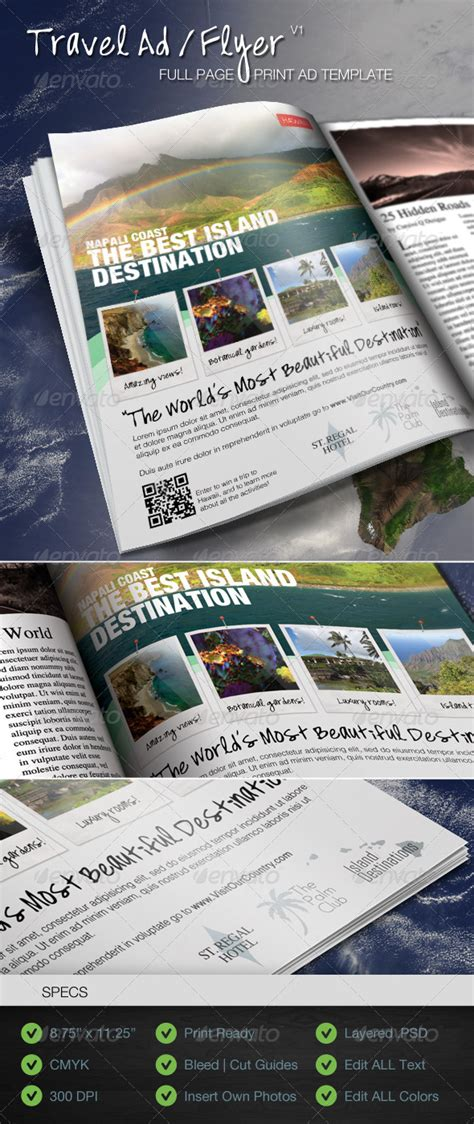 best flyer design graphicriver travel print ad flyer template v1 best designers