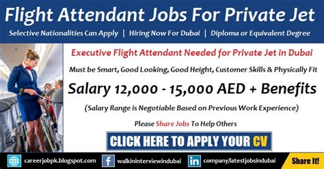 cabin crew vacancies cabin crew jobs in dubai for private jet airline latest