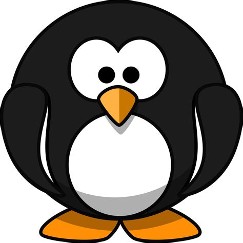 what color are penguins clipart penguin flat colors
