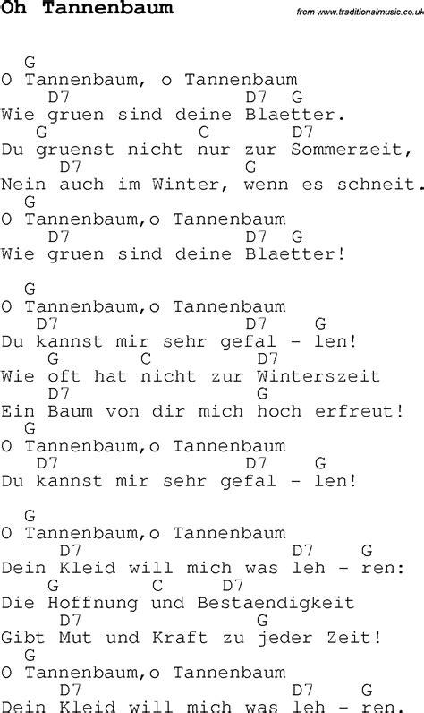 o tannenbaum lyrics and chords carol song lyrics with chords for oh tannenbaum