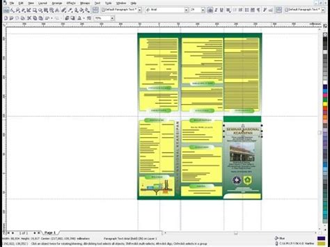 membuat brosur menggunakan corel draw x4 panduan cara membuat brosur lipat tiga coreldraw youtube