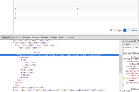 templates bootstrap yii php how to show the pager down the list on yii with