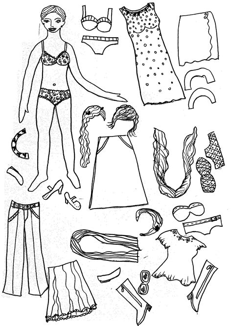 Doll Coloring Pages To Print Printable Paper Doll Coloring Pages Coloring Me by Doll Coloring Pages To Print