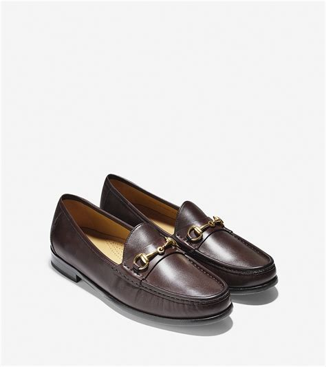 cole han loafers cole haan ascot calfskin loafers in brown for