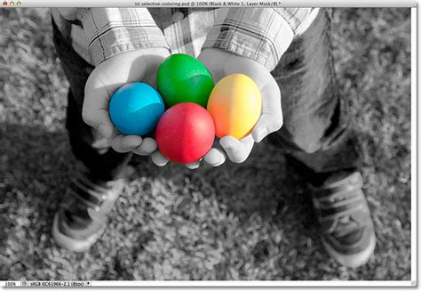 selective coloring effect  photoshop