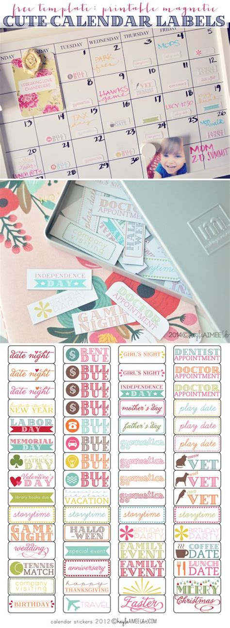 printable magnetic label a diy holiday gift magnets calendar and stickers