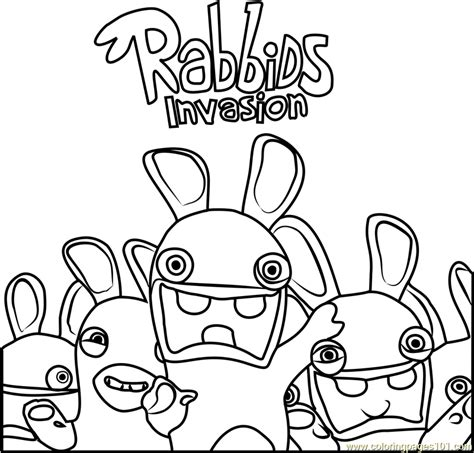 rabbids invasion coloring pages rabbids invasion coloring page free rabbids invasion
