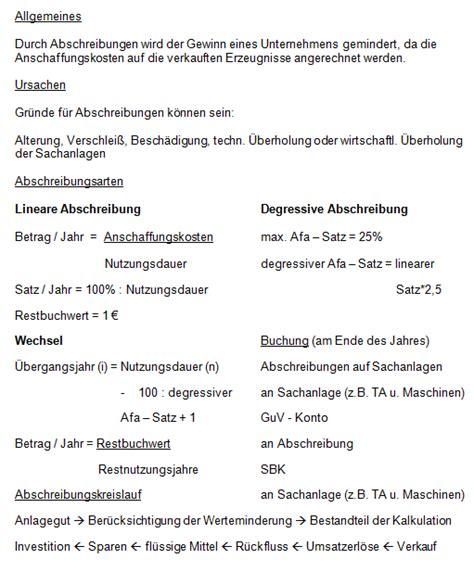 Handout Schreiben Muster Was K 246 Nnte Auf Ein Handout 252 Ber Abschreibungen Schreiben Rechnungswesen Wiwi Lernen De