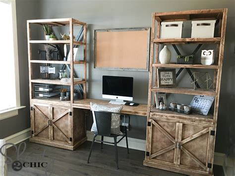 Diy Home Office Desk Diy Office Desk System Shanty 2 Chic