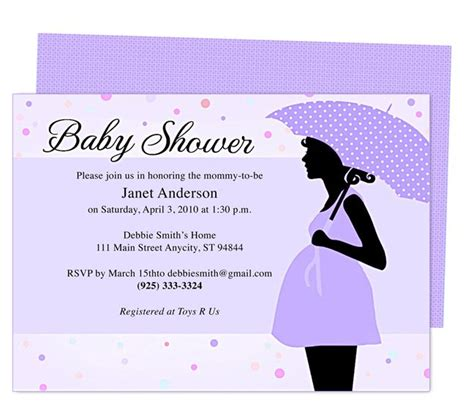 cute maternity baby shower invitation template edit