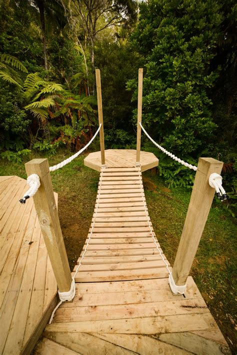 how to build a wooden bridge building a diy rope bridge living big in a tiny house