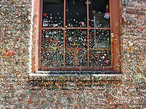 seattle gum wall is getting a scrubbing but the practice photos of the seattle gum wall before it was cleaned are