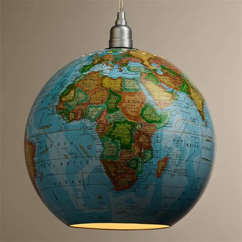 World Globe Light Fixture 12 Quot Globe Hanging Pendant L World Market