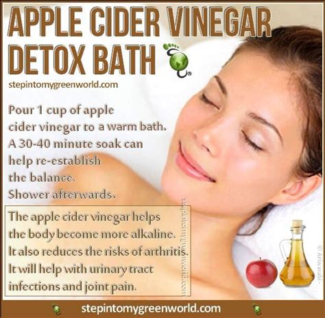 Apple Cider Vinegar Detox Bath Benefits apple cider vinegar detox bath health