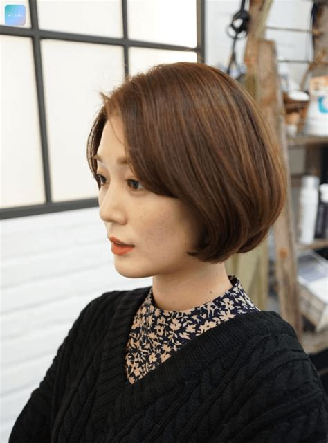 Before And After Korean Short Perm Hairstyle   short bob hippie perm hair trend archives kpop korean
