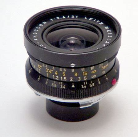 objectif leica super angulon 21 mm f/3,4 (1963 1980)