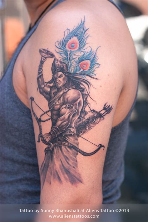 warrior lord krishna tattoo by sunny at aliens tattoo mumbai