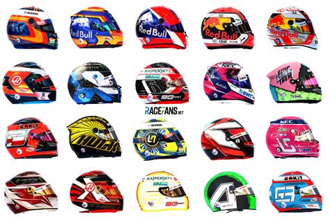 2019 F1 Drivers by Pictures Every F1 Driver S Helmet For The 2019 Season