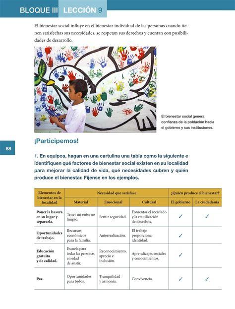 Paginas De El Libro De Formacion 5 Grado | formaci 243 n c 237 vica y 201 tica quinto grado 2016 2017 online