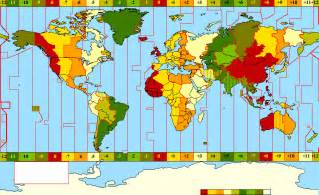 Timings Of World Time Zone Map Europe