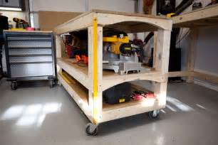rolling work benches workbench plans s rolling workbench and miter saw