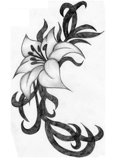 tribal lily flower tattoos flower images designs