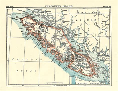 printable map vancouver island map of vancouver island from a 1904 encyclopedia britannica a