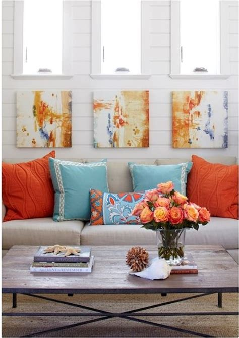 10 ways to use orange and white in your home s decor