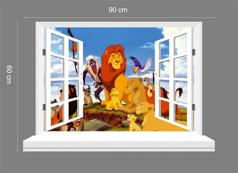 king 3d window wall view stickers mural