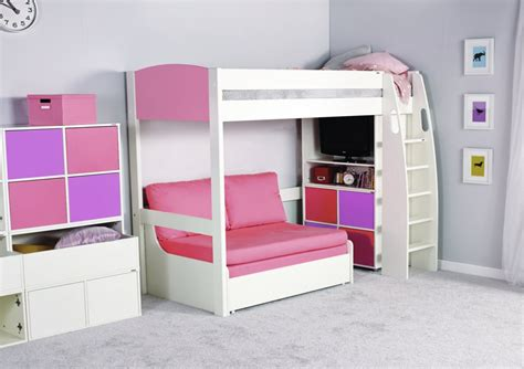 cabin beds for girls stompa unos high sleeper frame with double sofa bed only