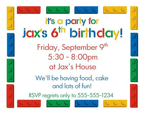 birthday invitations for boys templates free