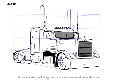 Peterbilt Semi Truck Coloring Pages Sketch Coloring Page | peterbilt semi truck coloring pages sketch coloring page