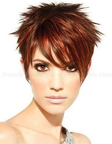 short spiky haircuts for round face women womens short short spiky hair with long bangs hair pinterest for