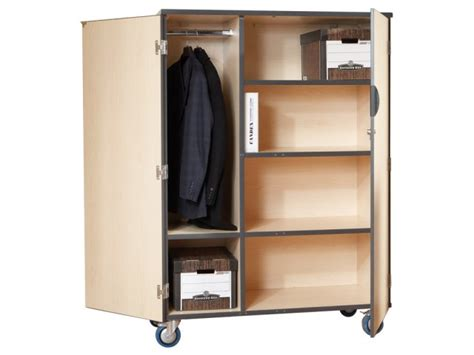 mobile storage cabinet w doors 3 shelves and rod lms 375d
