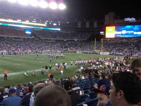 section 135 gillette stadium gillette stadium section 135 new england patriots