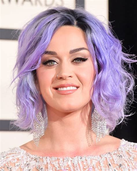 lavender haired katy perry hits 2015 grammys red carpet in