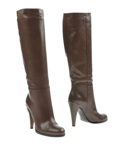 gucci boots for gucci boots in brown lyst