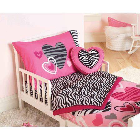 garanimals zebra hearts 4 toddler bedding set