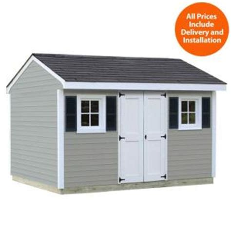 Home Depot Installed Sheds sheds usa installed classic 8 ft x 12 ft vinyl shed