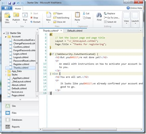 webmatrix templates free microsoft webmatrix released a simple editor for asp net