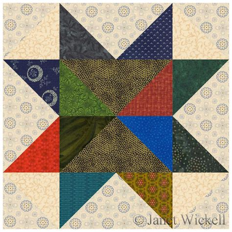 Scrappy Quilt Blocks by Easy Scrappy Quilt Block Pattern