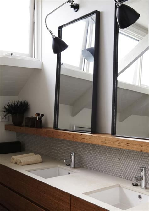 wooden bathroom mirror with shelf 25 best ideas about bathroom vanity mirrors on pinterest