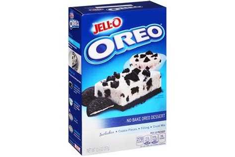 Jello No Bake Oreo Dessert 12 6 Oz jell o no bake oreo dessert mix kraft recipes kraft recipes